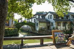 Ville antique -4 de Zhouzhuang image stock
