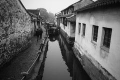 Ville antique de Zhouzhuang de la Chine Photos libres de droits