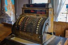 Ville antique du distributeur automatique de billets in 1830, le Dakota du Sud, Etats-Unis Photos libres de droits