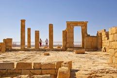 Ville antique Israël de désert Images libres de droits