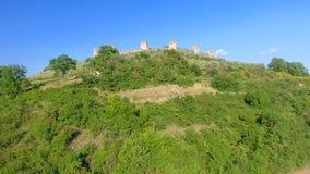 Ville antique médiévale entourée par les murs circulaires, vue aérienne photo stock