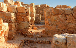 Ville antique Masada en Israël Images libres de droits