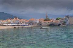 Ville antique par la mer Image libre de droits