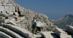 Ville antique Thermessos près d'Antalya en Turquie clips vidéos
