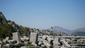 Ville antique Thermessos près d'Antalya en Turquie banque de vidéos