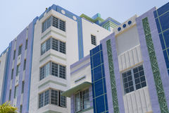 Ville Art Deco Architectural District, la Floride, Etats-Unis de Miami Photographie stock libre de droits