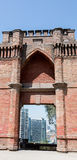 Ville au delà des murs de Hidalgo de château Image libre de droits