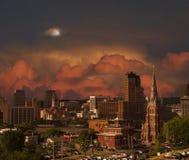 Ville avant tempête Photographie stock libre de droits