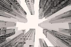 Ville avec des édifices hauts Photographie stock libre de droits