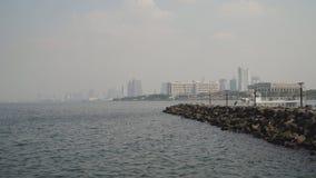 Ville avec des gratte-ciel et des bâtiments Philippines, Manille, Makati Photo stock
