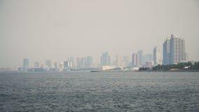 Ville avec des gratte-ciel et des bâtiments Philippines, Manille, Makati Image libre de droits