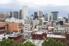 Ville ayant beaucoup d'étages de Melbourne de bâtiments, Australie Photo stock