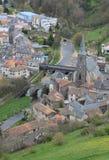 Ville Basse, Saint-Flour, Cantal ( France ) Stock Photo