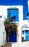 ville Blanc-bleue Photographie stock