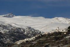 Ville blanche snowcovered photographie stock libre de droits