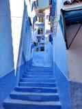 Ville bleue Photos stock