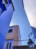 Ville bleue Photographie stock