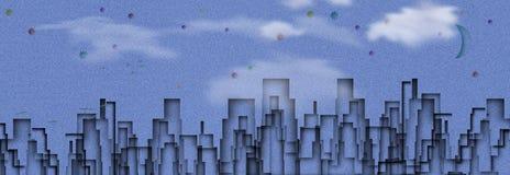 Ville bleue illustration stock