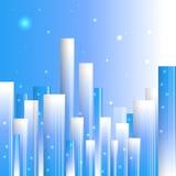Ville bleue abstraite Images libres de droits