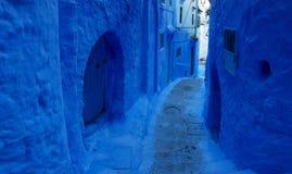 Ville bleue Chefchaouen, Maroc, Afrique Photographie stock libre de droits
