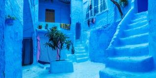 Ville bleue Chefchaouen, Maroc, Afrique Photos stock