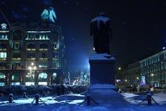 Ville bleue de Milou la nuit Image libre de droits