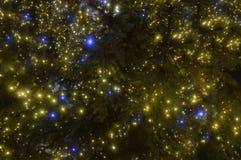 Ville brouillée de décoration de Noël Photo stock