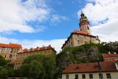 Ville célèbre, krumlov cesky en été 2011 Images libres de droits