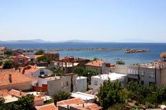 Ville côtière en Turquie occidentale Images libres de droits
