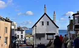 Ville côtière Lyme REGIS de Dorset photos stock