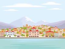 Ville côtière méditerranéenne Photos stock