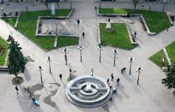 Ville centrale d'Ivano-Frankivsk de fontaine Photographie stock