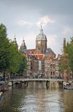 ville centrale Hollande d'Amsterdam images stock