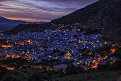 Ville Chefchaouen au Maroc Photo stock