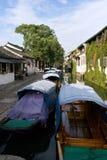 Ville chinoise Zhouzhuang de l'eau Photographie stock libre de droits