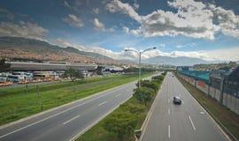 Ville colombienne de Medellin Photo libre de droits