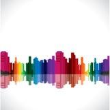 Ville colorée abstraite illustration de vecteur
