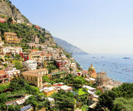 Ville colorée de Positano Photos stock