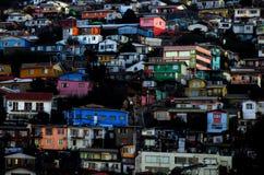 VILLE COLORÉE DE VALPARAISO AU CHILI photos libres de droits
