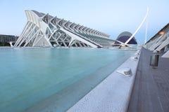Ville complexe architecturale de Valence des arts et des sciences images stock