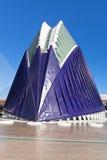 Ville complexe de Valence des arts et des sciences Image libre de droits