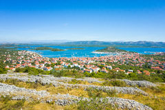 Ville Croatie de Murter Photo stock