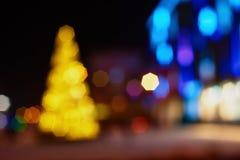 Ville décorée la nuit Image libre de droits