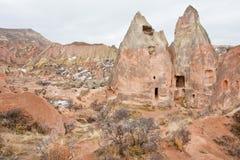 Ville découpée abandonnée dans la roche de grès dans les montagnes Images libres de droits