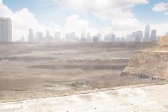 Ville détruite photo stock