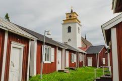 Ville d'église de Gammelstad Image libre de droits
