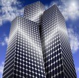 Ville d'énergie solaire illustration libre de droits