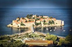 Ville d'île de Sveti Stefan Image libre de droits