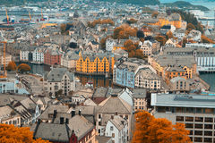 Ville d'Aalesund Photo stock