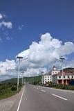 Ville d'Aer Hulunbeier, route de Hot Springs de la route S203 Photo libre de droits